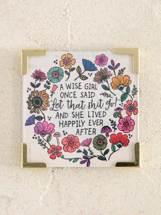 Natural Life Corner Magnet A Wise Girl - Global Free Style