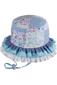 Baby Millymook Baby Girls Bucket Hat Rah Rah Blue - Global Free Style