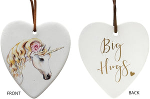Lavida Hanging Ceramic Heart Unicorn - Global Free Style