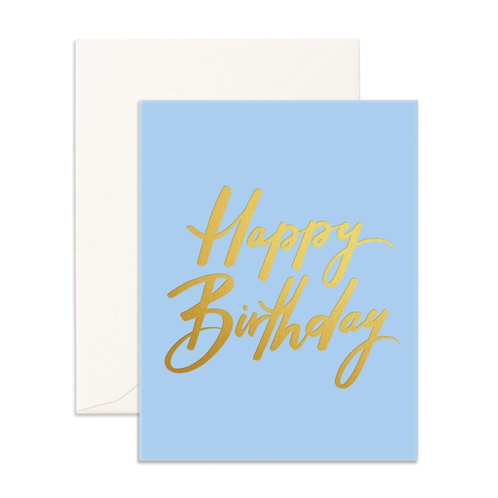 Fox & Fallow Greeting Card Birthday Blue - Global Free Style