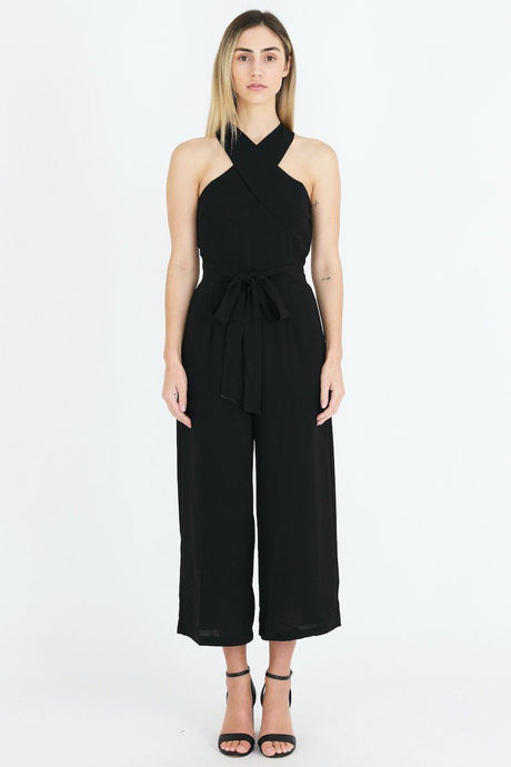 3rd Love Cross  Neck Jumpsuit Black - Global Free Style