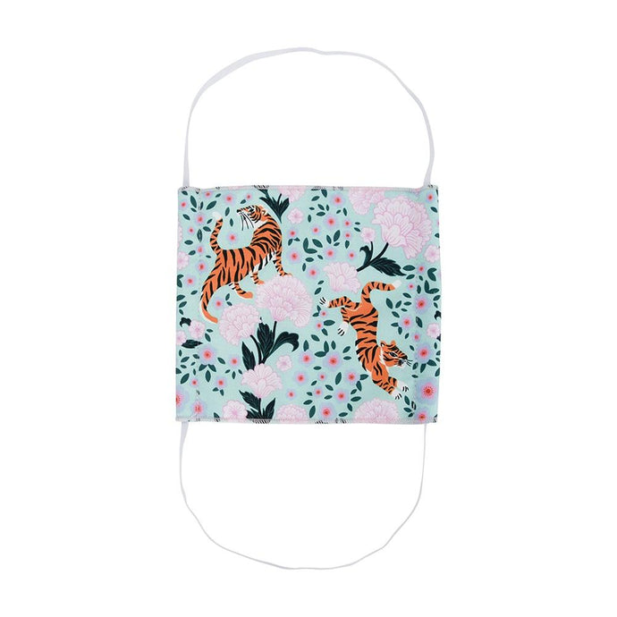 Annabel Trends Face Mask Surgical Style Tiger & Peonies - Global Free Style