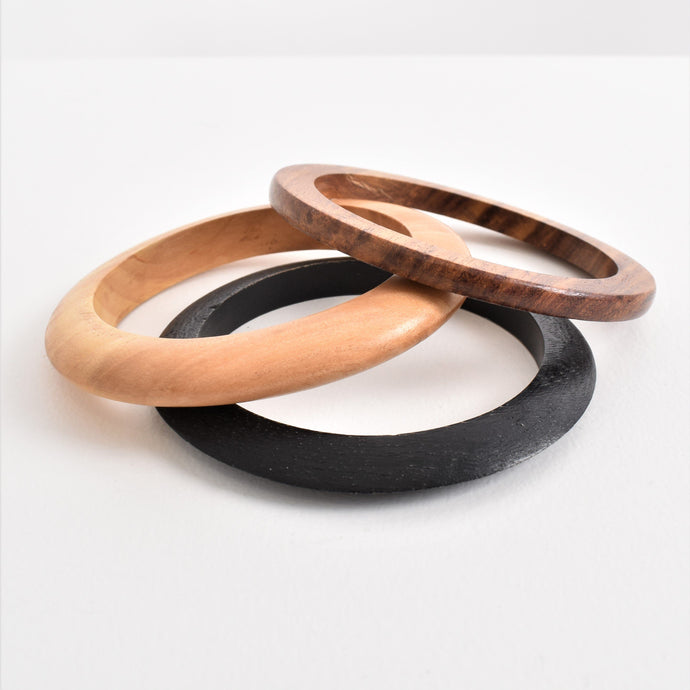 Adorne Trio Timber Bangle Set - Global Free Style