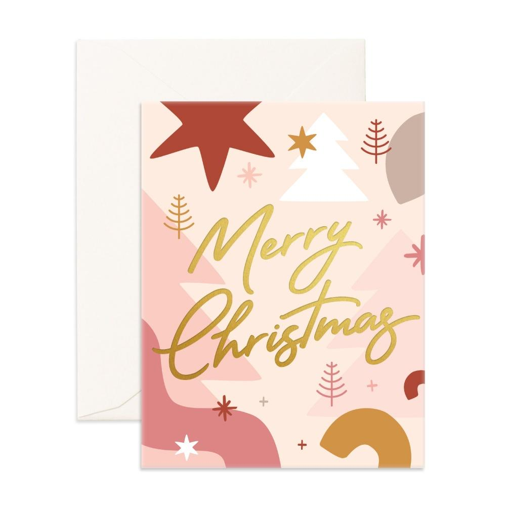Fox & Fallow Greeting Card Merry Christmas Abstract - Global Free Style