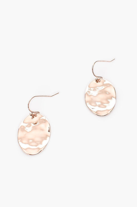 Adorne Elly Mini Drop Hook Earrings Rose Gold - Global Free Style
