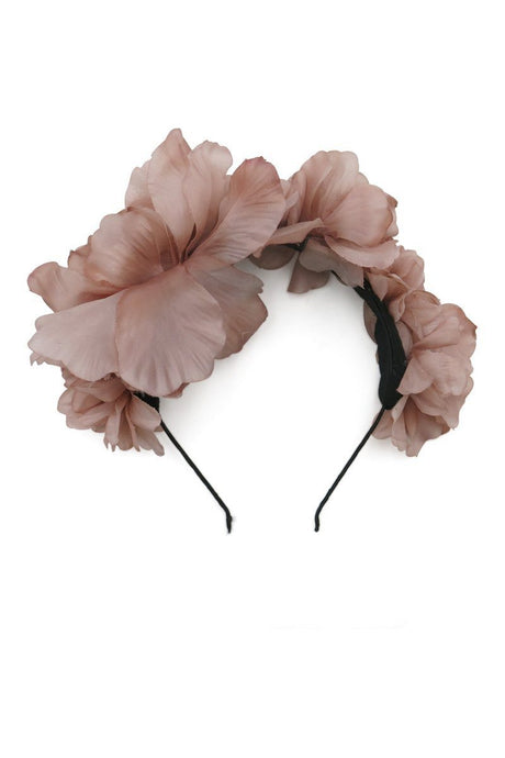 Morgan & Taylor Floral Headband Fascinator Dusty Pink - Global Free Style