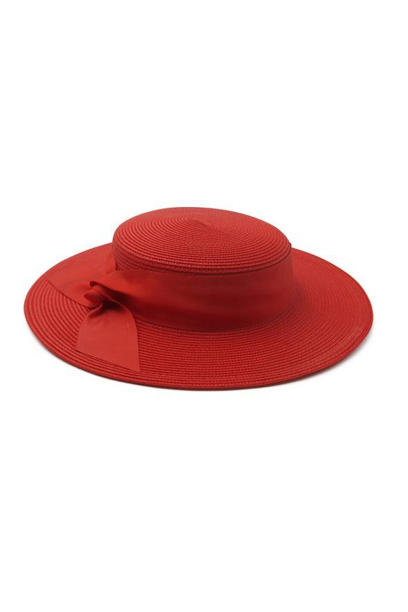 Morgan & Taylor Clarke Boater Hat Red - Global Free Style