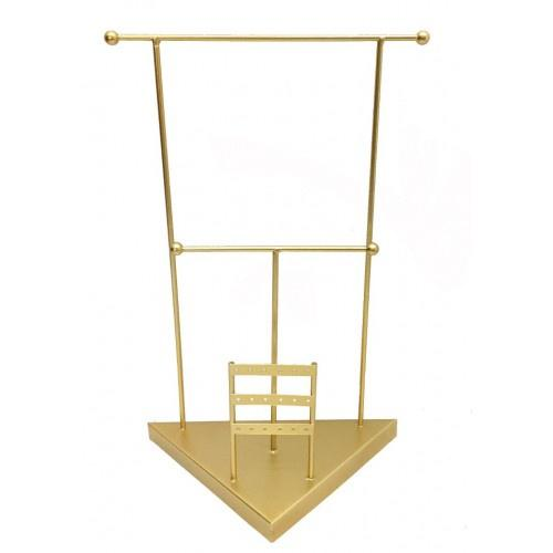 Urban Jewellery Stand Tier Gold 40cm - Global Free Style