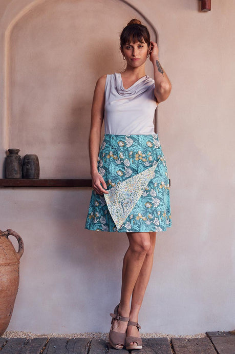 MahaShe Chameleon Reversible Skirt Lily and Iris - Global Free Style