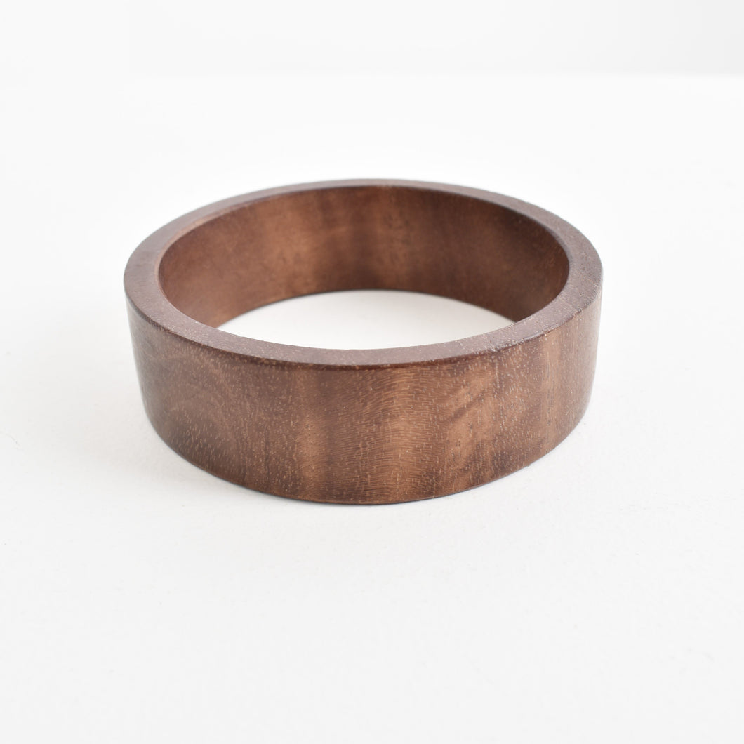 Adorne Smooth Timber Bangle - Global Free Style