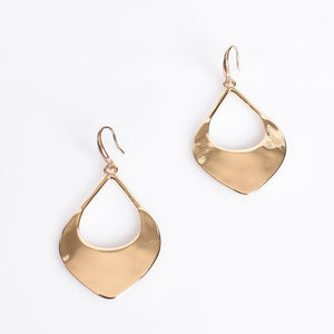 Adorne Eastern Open Teardrop Earrings Gold - Global Free Style
