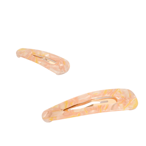 Adorne Resin Hinged Clip Set of 2 Pink/Yellow - Global Free Style