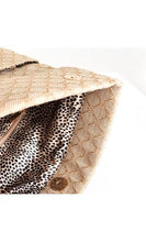 Adorne Fold Over Woven Clutch Bag Natural / Cream - Global Free Style