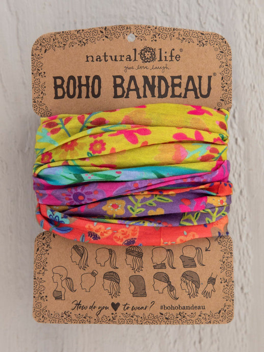 Natural Life Boho Bandeau Lime/Purple Borders - Global Free Style