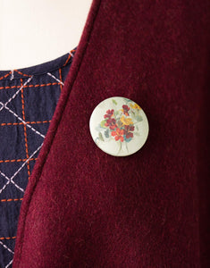 Lazybones Button Brooch Avalon - Global Free Style
