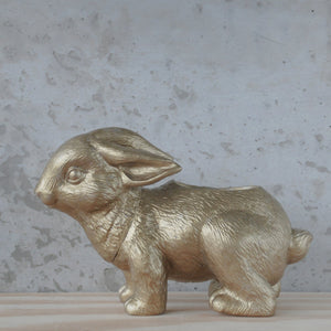 White Moose Design Bunny - Gold - Global Free Style
