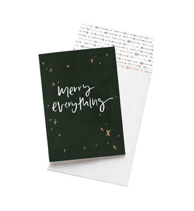 Emma Kate Co Merry Everything Greeting Card - Global Free Style