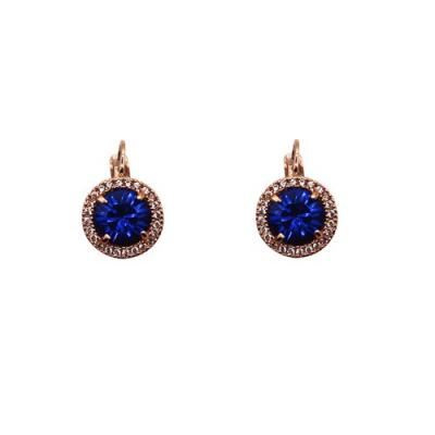 Fabienne Crystal Circle Drop Earrings Rose Gold 9 Colours - Global Free Style