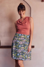 MahaShe Chameleon Reversible Skirt Hibiscus and Lapis - Global Free Style