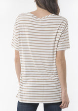 Elm Cove Stripe Tee Tan - Global Free Style