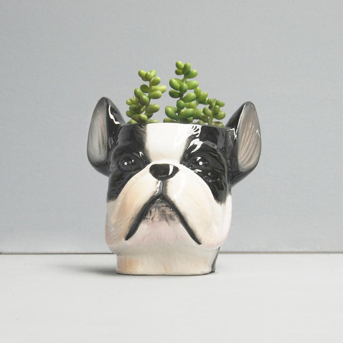 Ceramic Planter Frenchie - Global Free Style