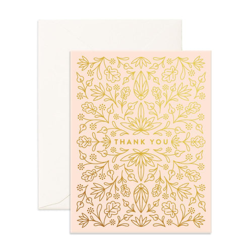 Fox & Fallow Greeting Card GRECIAN THANK YOU - Global Free Style