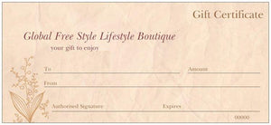Gift Voucher from $10 up - Global Free Style