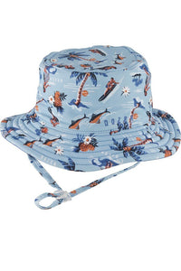 Baby Dozer Baby Boys Bucket Hat Makai Blue - Global Free Style
