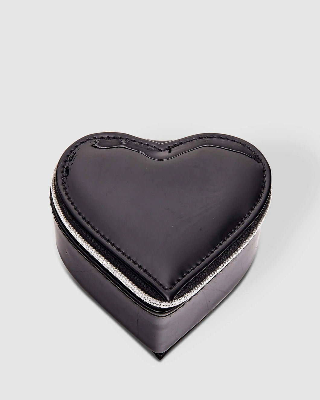 Louenhide Heart Jewellery Box Patent Black - Global Free Style