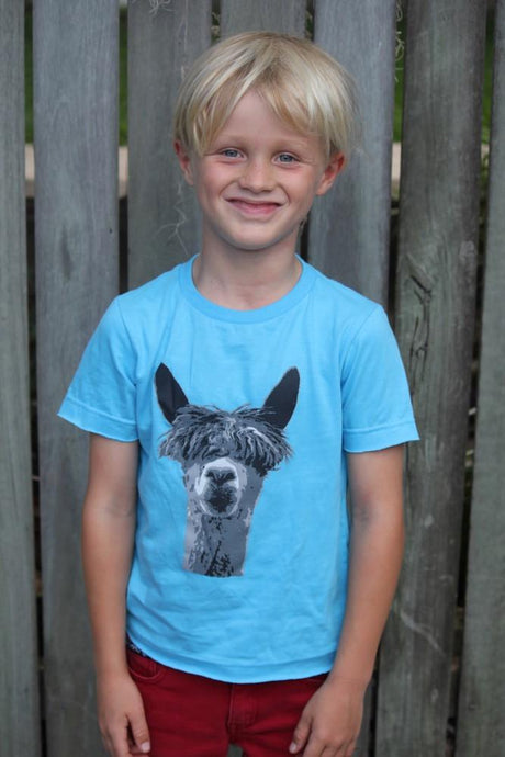 Skumi Boys T Shirt Lama Blue