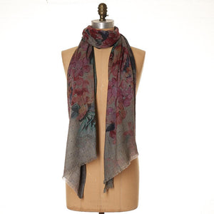 Lee Garrett Scarf Bloom Time Greys - Global Free Style