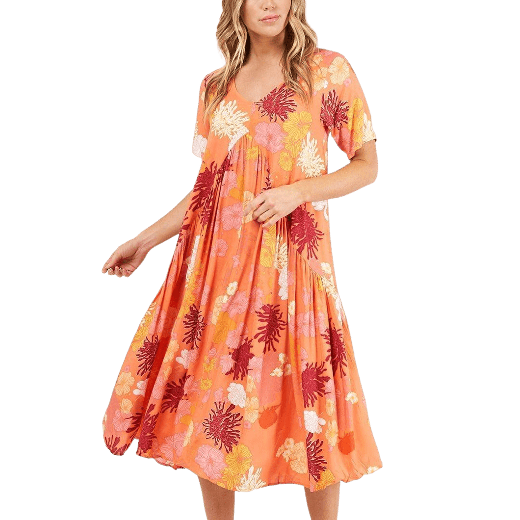 Label of Love Poppy Long Dress Orange - Global Free Style