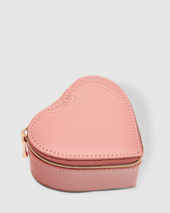 Louenhide Heart Jewellery Box Patent Nude - Global Free Style