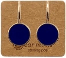 Ear Mints 9mm Round Enamel Hook Earrings Galaxy Blue - Global Free Style