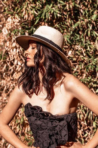 Morgan & Taylor Cruz Fedora - Natural & Black - Global Free Style