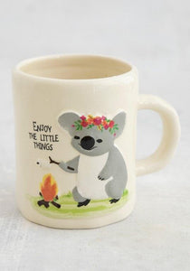 Natural Life Embossed Mug Camp Fire Koala - Global Free Style