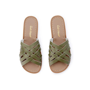 Salt Water Retro Slide Shoes Olive - Global Free Style