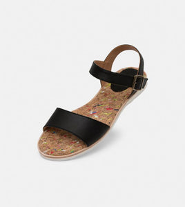 Rollie Leather Sandal Black - Global Free Style