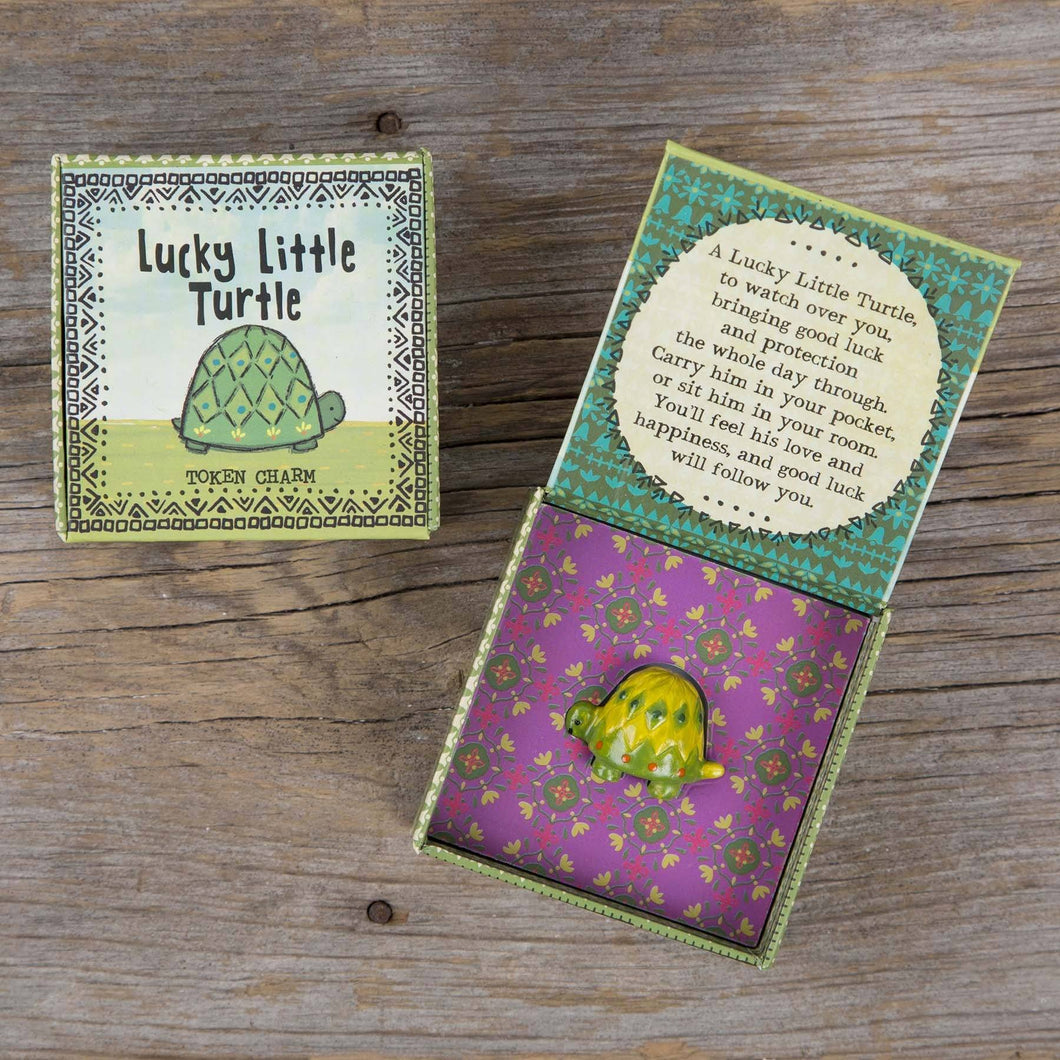 Natural Life Token Charm In Box - Lucky Turtle - Global Free Style