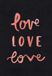 emma kate co. Love Love Love - Greeting Card - Global Free Style