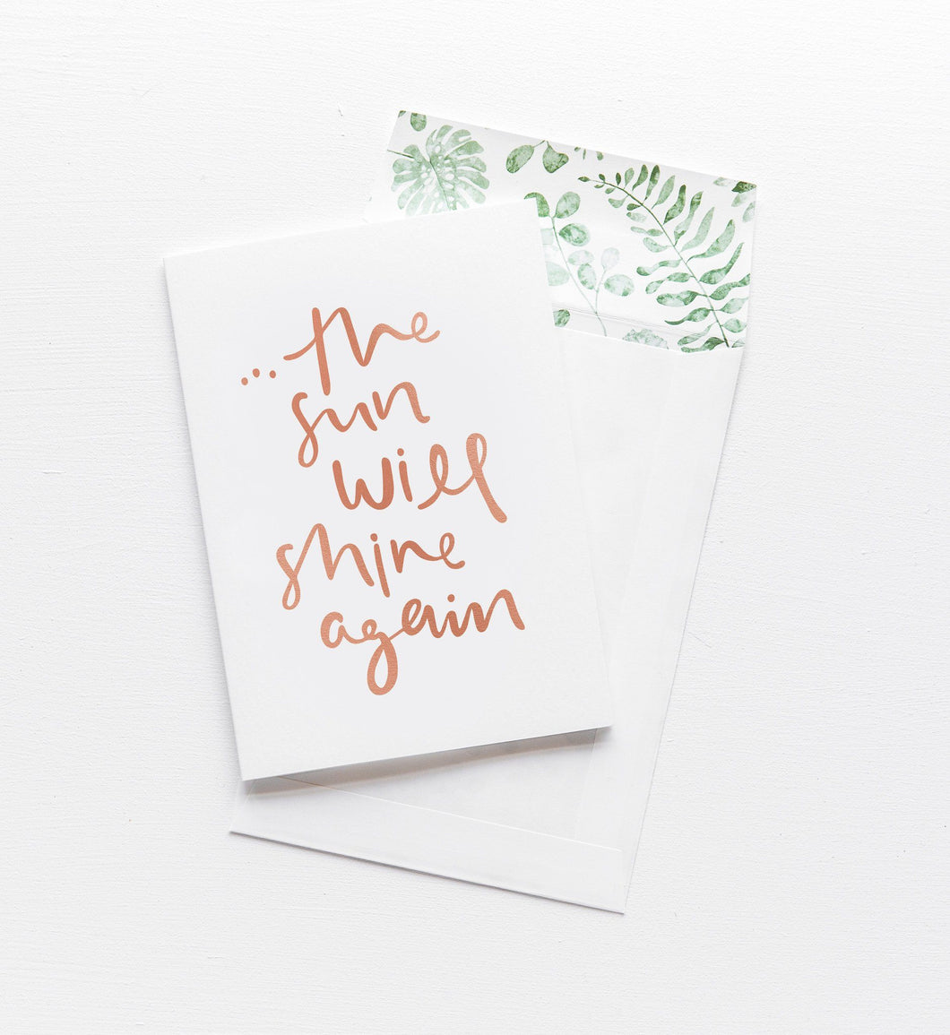 emma kate co. The Sun Will Shine Again - Greeting Card - Global Free Style