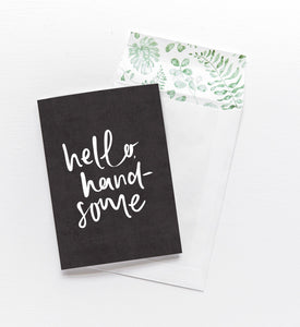 emma kate co. Hello Handsome - Greeting Card - Global Free Style