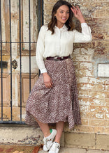 Spicy Sugar Leopard Long Skirt Brown - Global Free Style
