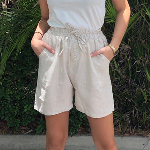 Worthier Bianca Linen Shorts 2 Colours - Global Free Style