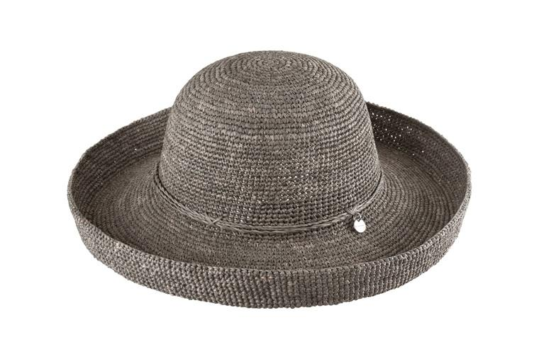 Kooringal Ladies Upturn Raffia Hat Pebble