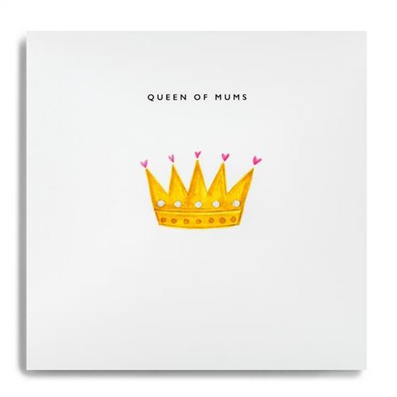 Greeting Card Queen of Mums - Global Free Style