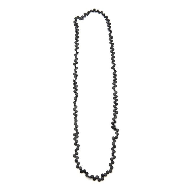 Rare Rabbit Coco Beads 150cm Long Necklace Black - Global Free Style
