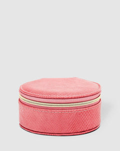 Louenhide Sisco Jewellery Box Lizard Dark Blush - Global Free Style
