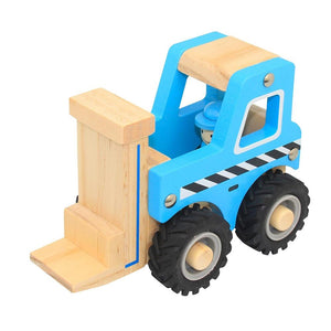 ToysLink Wooden Toy Forklift Blue - Global Free Style