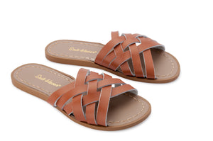 Salt Water Retro Slide Shoes Tan - Global Free Style